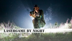 lasergamen in het donker tijdens lasergame by night